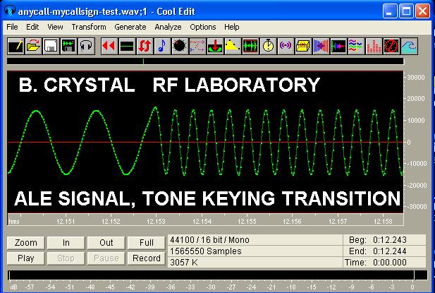 ALE SIGNAL - TONE TRANSITION WAVEFORM